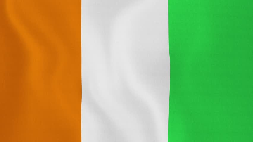 Loopable flag of cote d ivoire cote d ivoire official flag gently