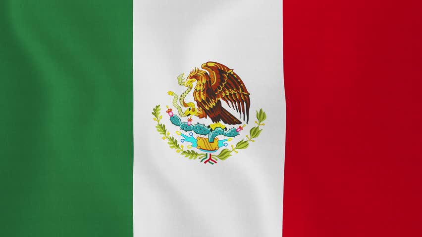 Mexican Flag Silk (Loop HD). Mexican Flag With Original ...
