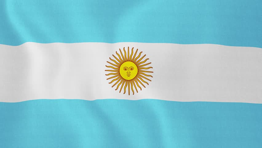 [loopable] Flag Of Argentina. Argentine, Argentinean ... Official Argentina Flag