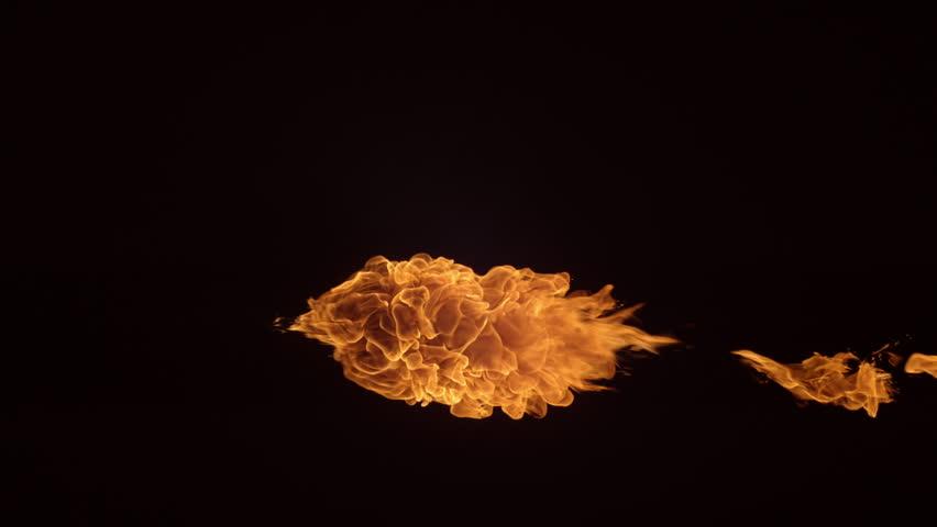 Fireball in slow motion; shot on Phantom Flex 4K at 1000 fps