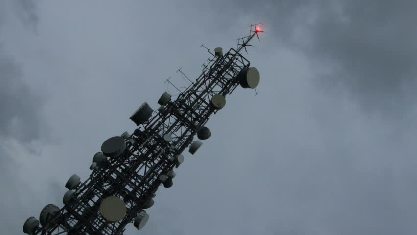 time lapse of telecommunication tower - HD stock footage clip