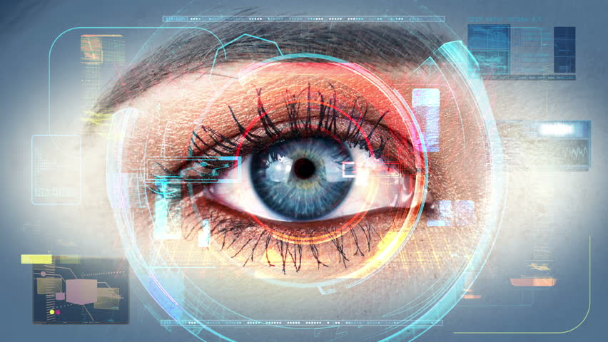 Human Eye Identification Scan Technology Interface 4K