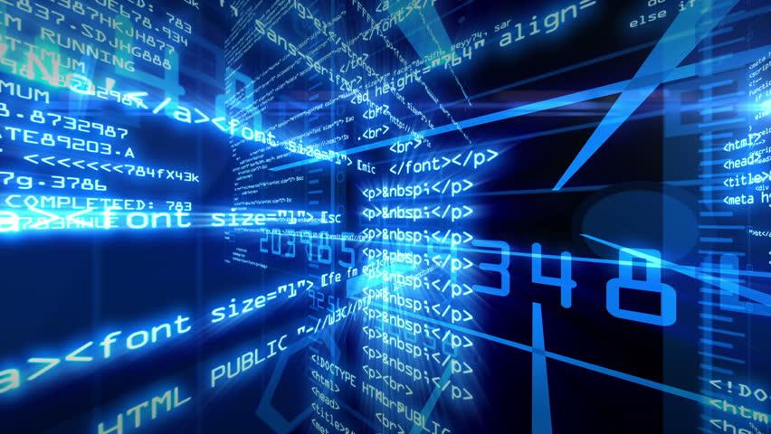 Data Code Digital Technology 4K Animation Background