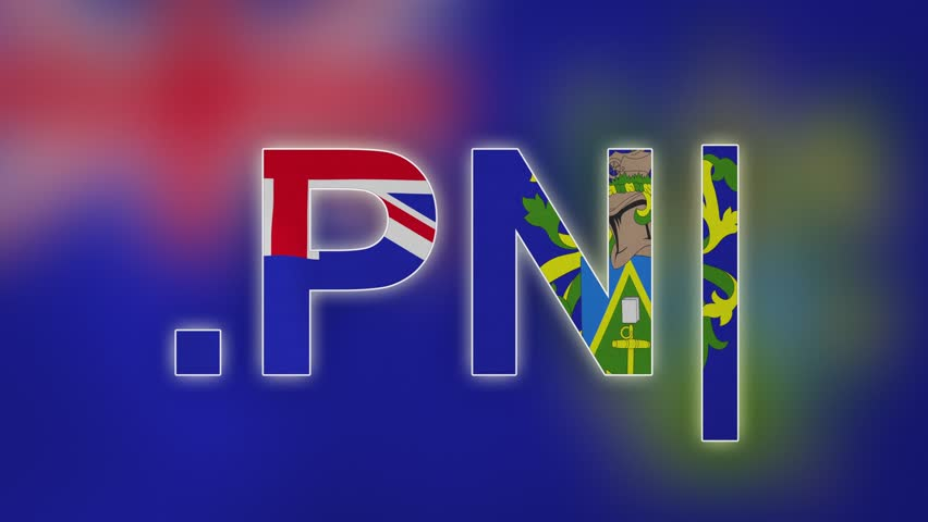 """PN - internet domain of Pitcairn Island. Typing top-level domain """".PN"""" against blurred waving national flag of Pitcairn Island. Highly detailed fabric texture for 4K resolution. Clip ID: ax1001c"""