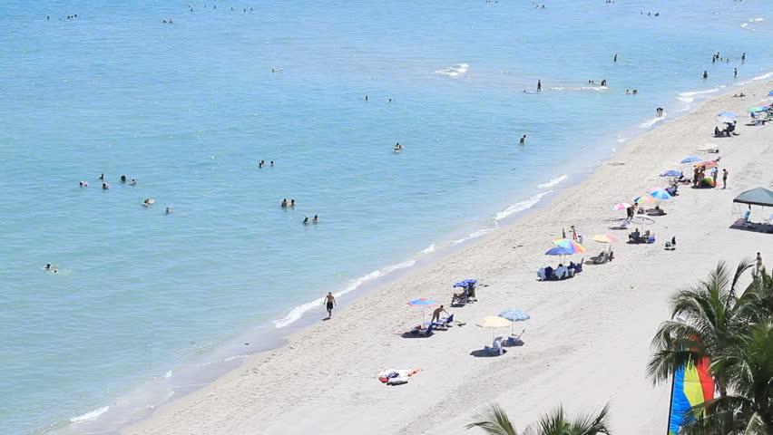 tourism on miami beach - HD stock footage clip