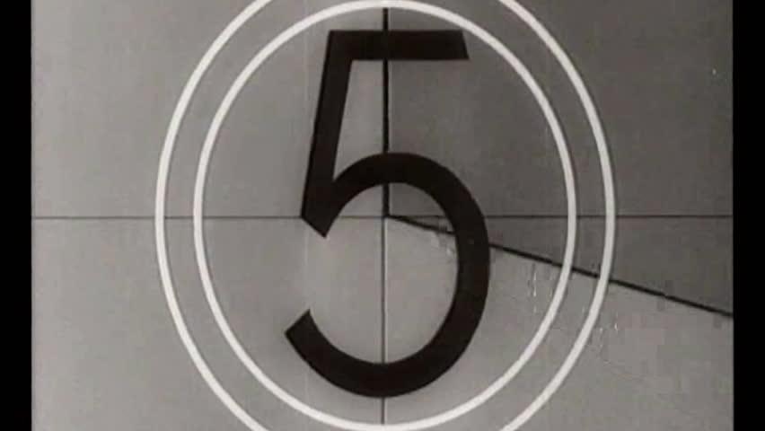 Vintage movie leader film countdown retro    Shutterstock HD Video #9042364