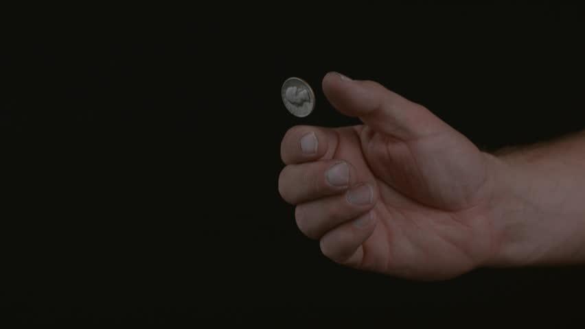 Coin flip in slow motion; shot on Phantom Flex 4K at 1000 fps