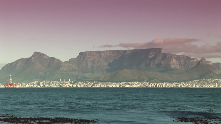 Cape town from the water - HD stock video clip