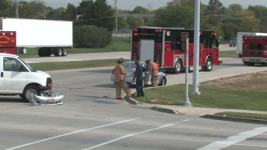 Accident Scene 4 - HD stock footage clip