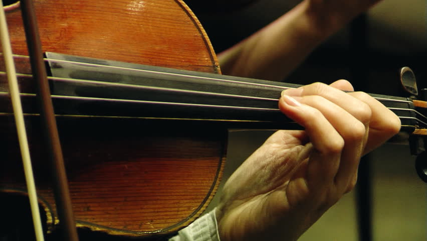 Violin in the orchestra - HD stock video clip