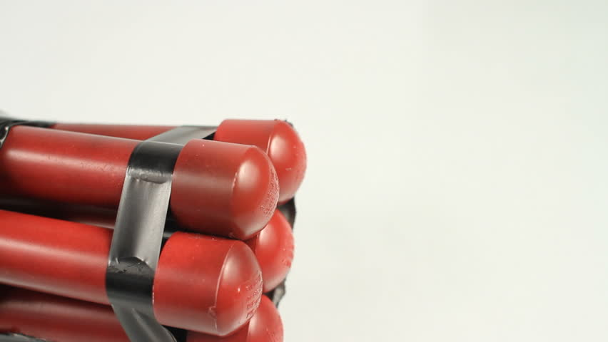 Shot of fake dynamite with timer. Shot in Moreno Valley, California in March of 2011.