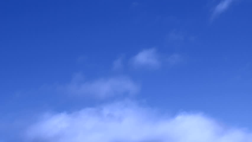 Blue sky with moving clouds - HD stock video clip