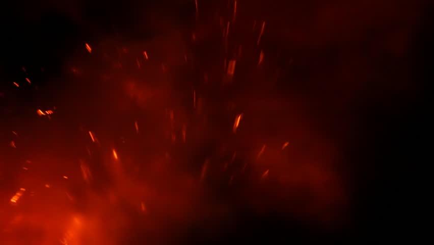 Flying Lava at Night