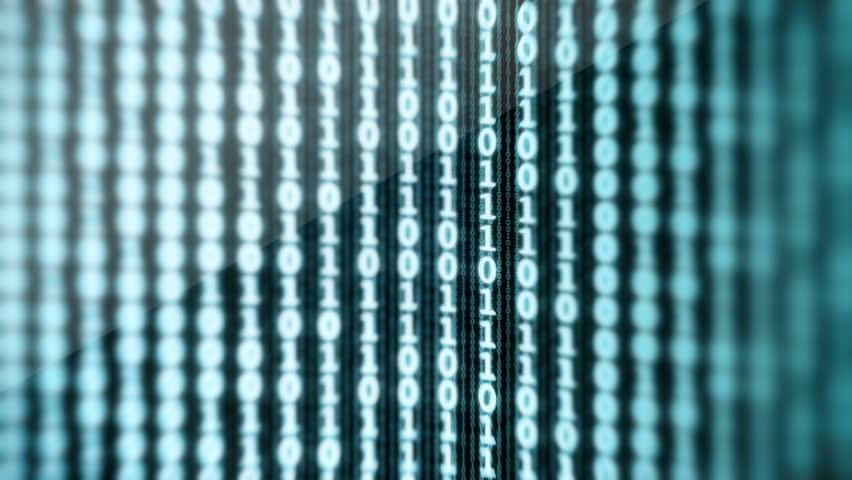Binary Data Digital Display Loop