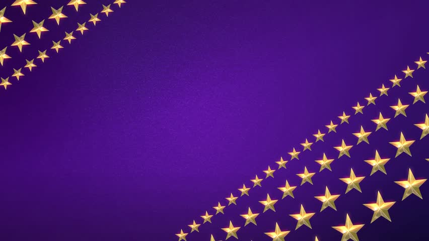 Looping Animation Of Gold Stars Rotating On A Sparkling Purple Background Stock Footage Video ...