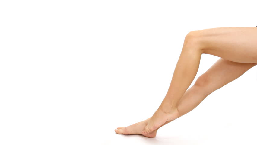 Woman's legs, isolated - HD stock video clip