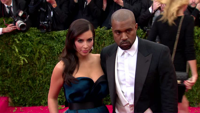 New York, NY - May 05,2014: Kim Kardashian and Kanye West at The Costume Institute Gala 2014, The Metropolitan Museum of Art