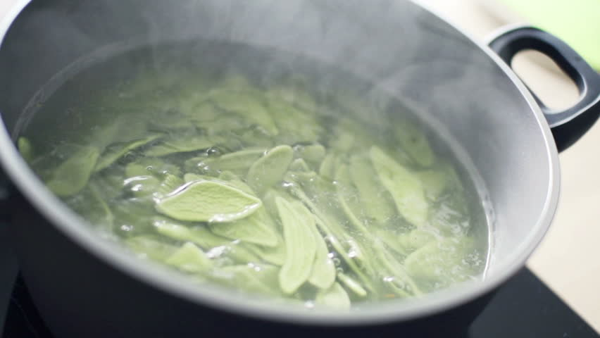 Cooking pasta in pot, slow motion shot at 240fps