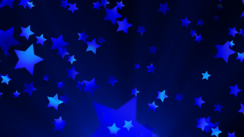 Blue Shooting Stars Fly Across The Screen Against A Black ...