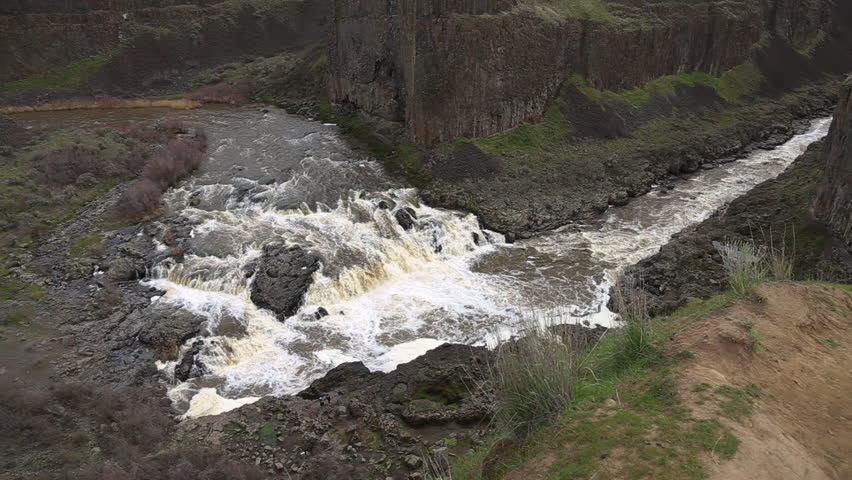 Upper part of the Palouse River in Palouse Falls State Park in eastern Washington State, USA