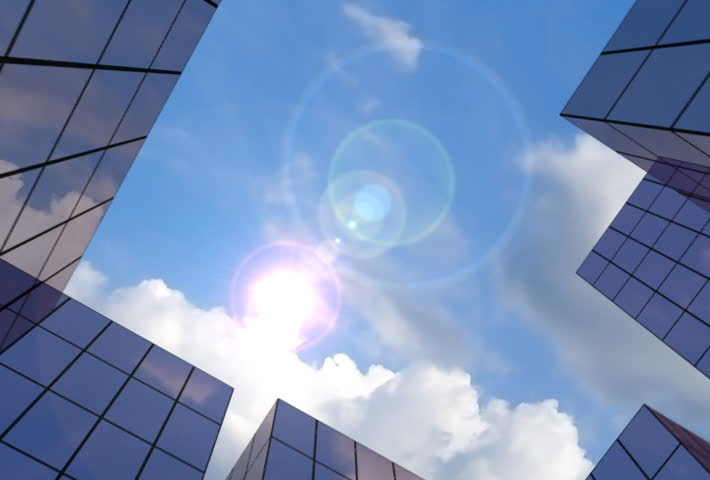 Corporate buildings 2 - SD stock footage clip