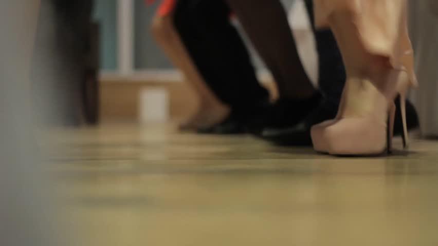 Male and female dancer colorful legs Ukraine